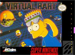 Box cover for Virtual Bart on the Nintendo SNES.