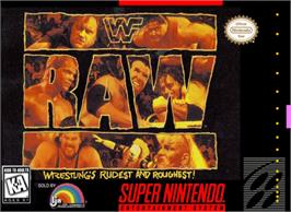 Box cover for WWF Raw on the Nintendo SNES.