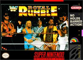 Box cover for WWF Royal Rumble on the Nintendo SNES.