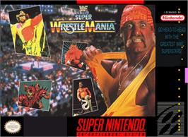 Box cover for WWF Super Wrestlemania on the Nintendo SNES.