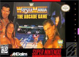 Box cover for WWF Wrestlemania: The Arcade Game on the Nintendo SNES.