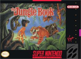 Box cover for Walt Disney's The Jungle Book on the Nintendo SNES.