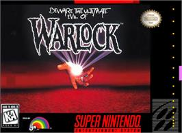 Box cover for Warlock on the Nintendo SNES.