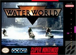 Box cover for Waterworld on the Nintendo SNES.