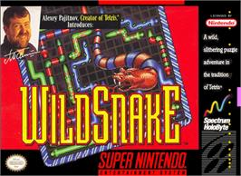 Box cover for WildSnake on the Nintendo SNES.