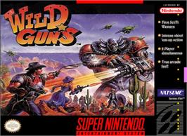 Box cover for Wild Guns on the Nintendo SNES.