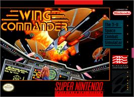 Box cover for Wing Commander on the Nintendo SNES.