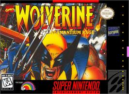 Box cover for Wolverine: Adamantium Rage on the Nintendo SNES.