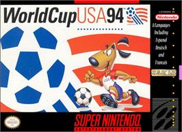 Box cover for World Cup USA '94 on the Nintendo SNES.