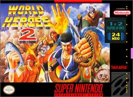 Box cover for World Heroes 2 on the Nintendo SNES.