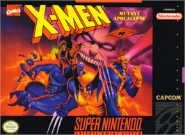 Box cover for X-Men: Mutant Apocalypse on the Nintendo SNES.