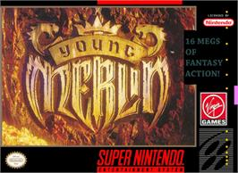 Box cover for Young Merlin on the Nintendo SNES.