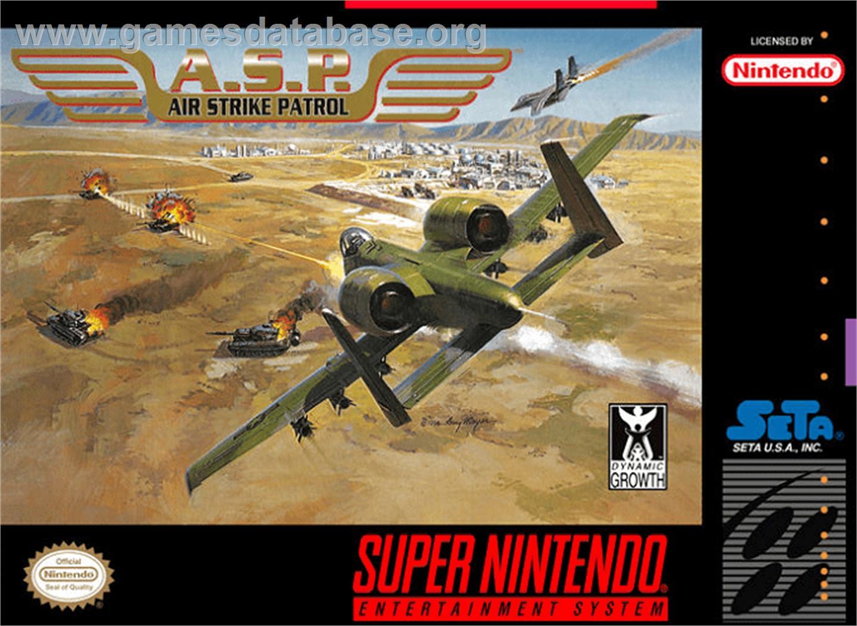 A S P Air Strike Patrol Nintendo Snes Games Database