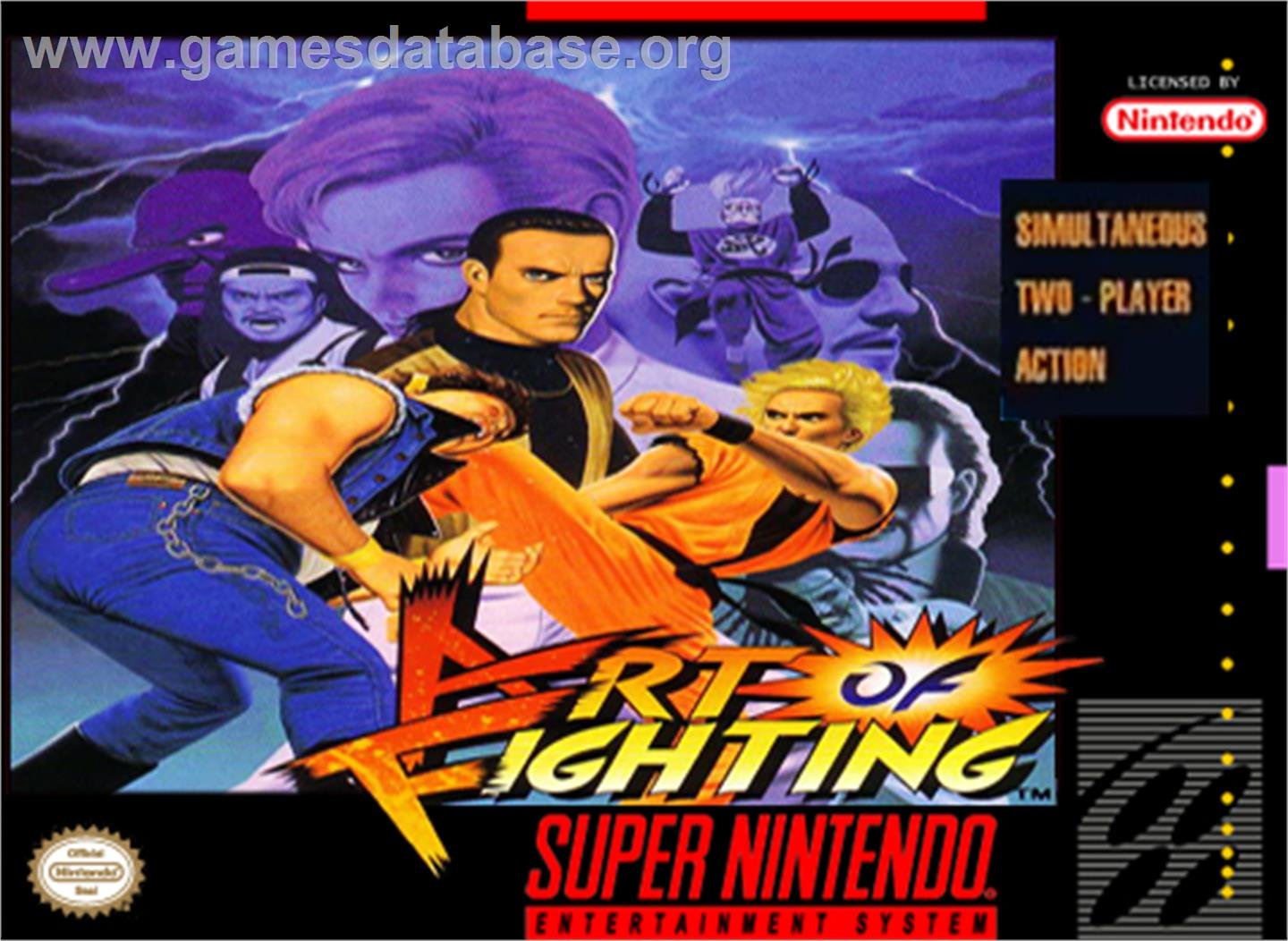 Art of Fighting - Nintendo SNES - Artwork - Box
