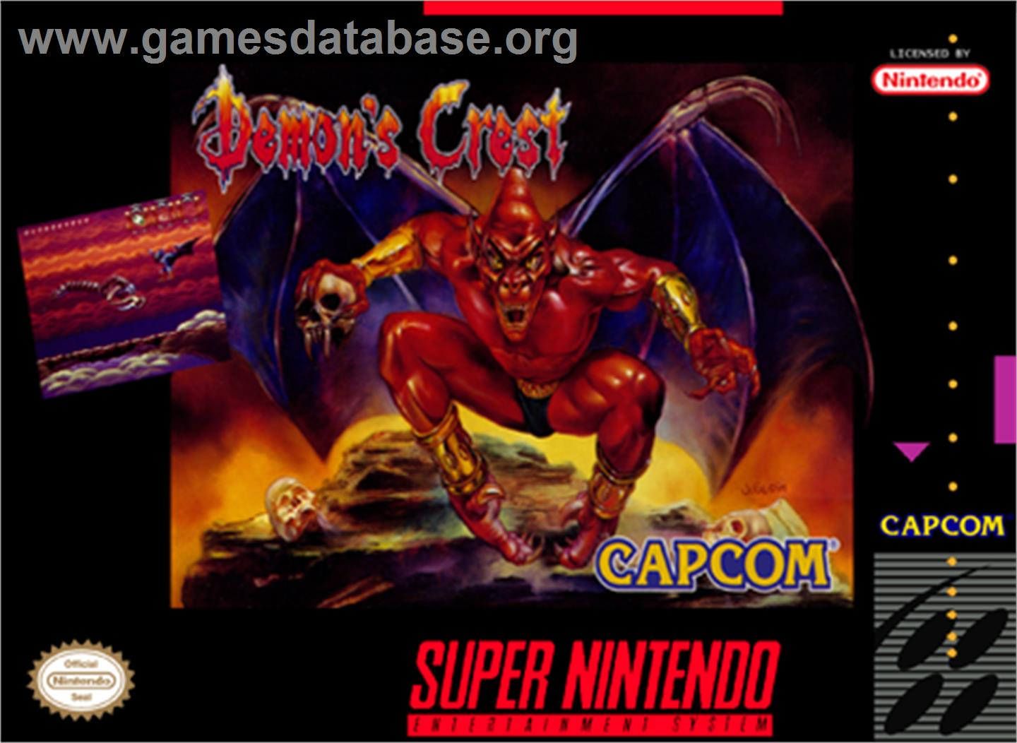 Demon's Crest - Nintendo SNES - Artwork - Box