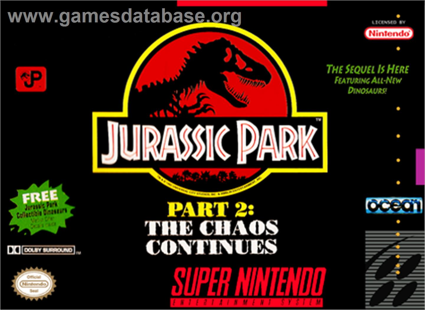 Box cover for Jurassic Park Part 2: The Chaos Continues on the