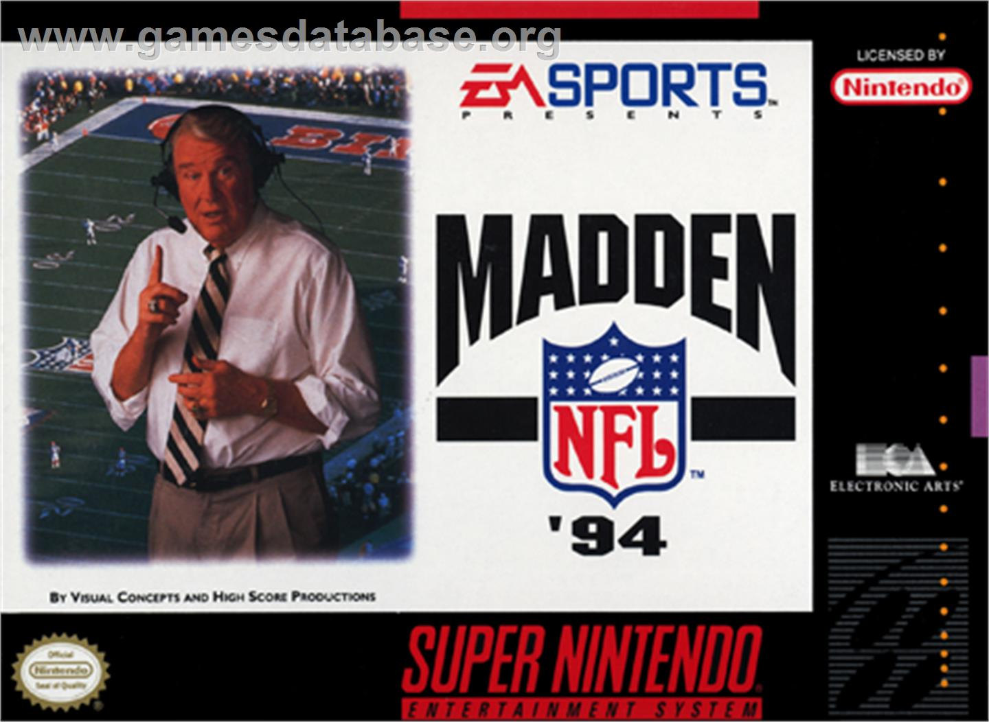 Madden NFL '94 - Nintendo SNES - Artwork - Box