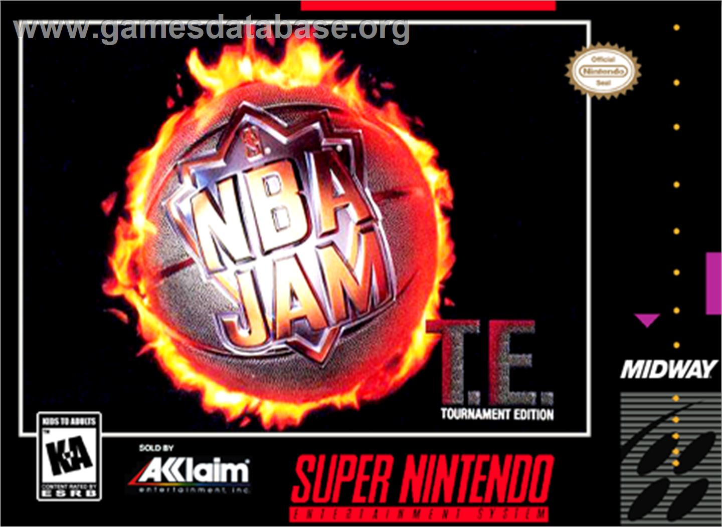 NBA Jam Tournament Edition - Nintendo SNES - Artwork - Box