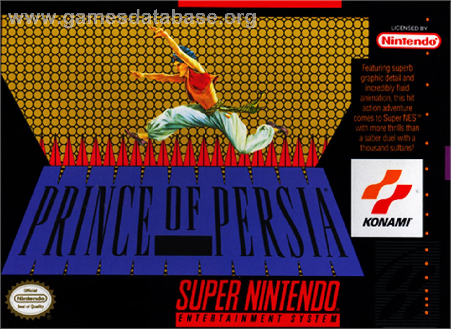 Prince of Persia - Nintendo SNES - Artwork - Box