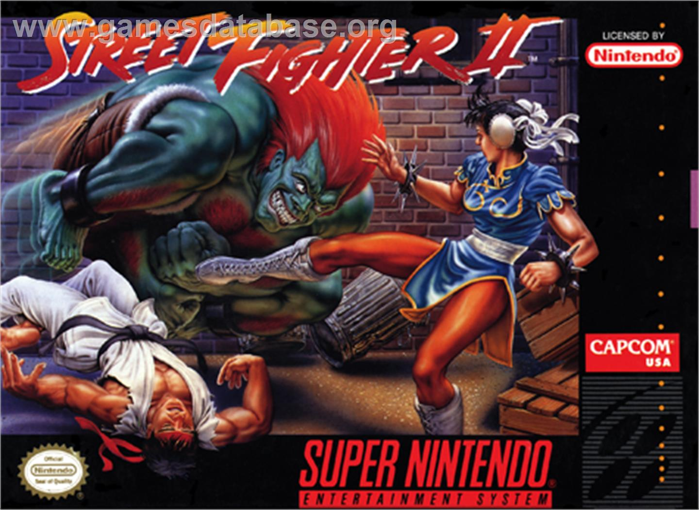 Street Fighter II: The World Warrior - Nintendo SNES - Artwork - Box