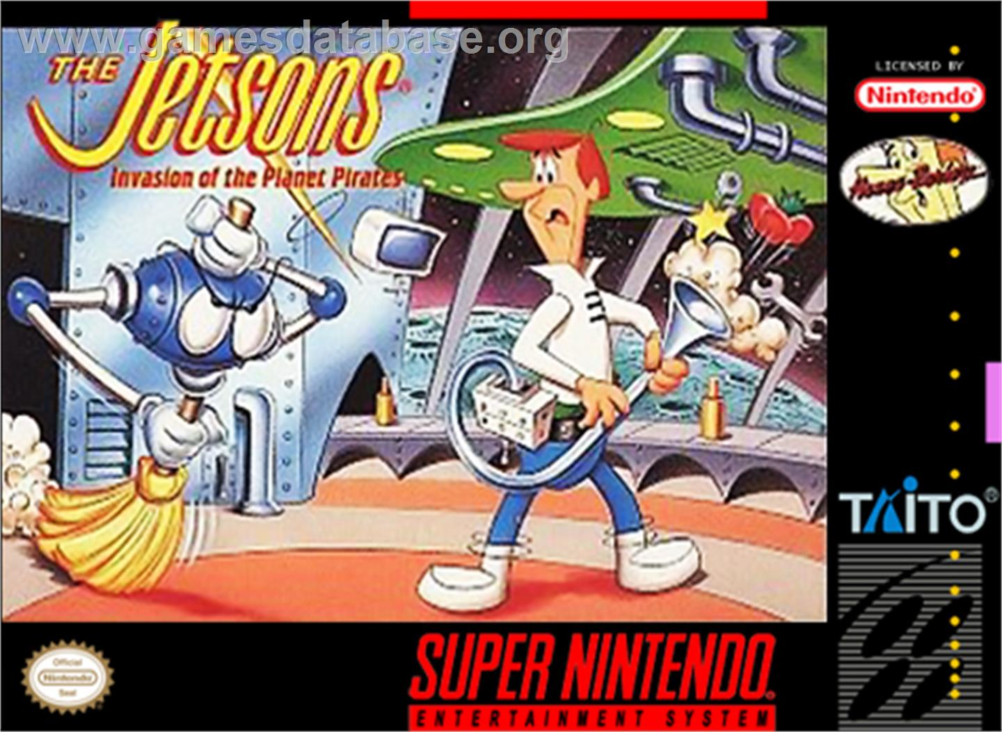 The Jetsons: Invasion of the Planet Pirates - Nintendo SNES - Artwork - Box