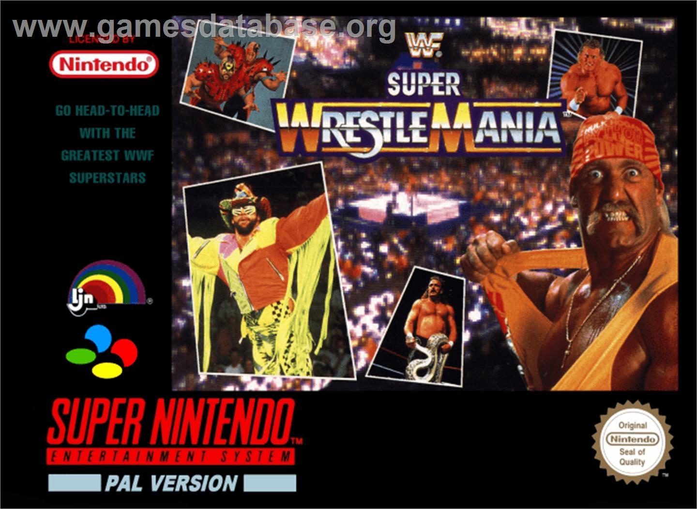 Wwf Super Wrestlemania Nintendo Snes Artwork Box