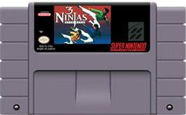 Cartridge artwork for 3 Ninjas Kick Back on the Nintendo SNES.