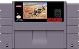 Cartridge artwork for A.S.P.: Air Strike Patrol on the Nintendo SNES.