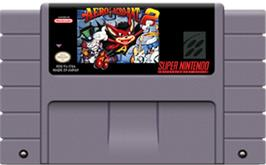 Cartridge artwork for Aero the Acro-Bat 2 on the Nintendo SNES.
