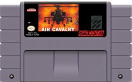 Cartridge artwork for Air Cavalry on the Nintendo SNES.