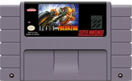 Cartridge artwork for Alien Vs. Predator on the Nintendo SNES.