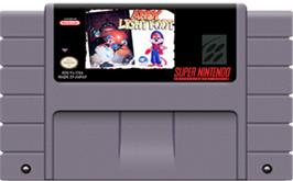Cartridge artwork for Ardy Lightfoot on the Nintendo SNES.