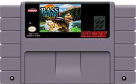 Cartridge artwork for BASS Masters Classic on the Nintendo SNES.
