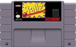 Cartridge artwork for Ballz 3D on the Nintendo SNES.