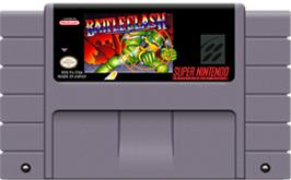 Cartridge artwork for Battle Clash on the Nintendo SNES.