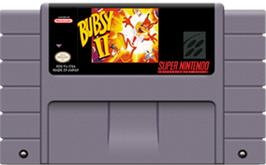 Cartridge artwork for Bubsy II on the Nintendo SNES.