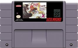 Cartridge artwork for Chrono Trigger on the Nintendo SNES.