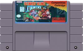 Cartridge artwork for Donkey Kong Country on the Nintendo SNES.