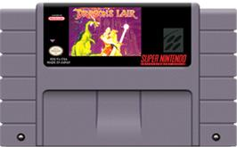 Cartridge artwork for Dragon's Lair on the Nintendo SNES.