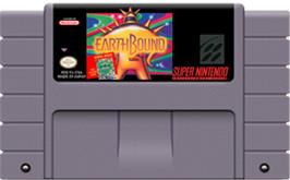 Cartridge artwork for EarthBound on the Nintendo SNES.