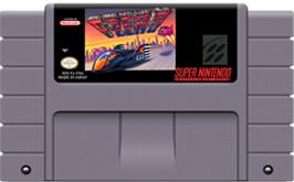 Cartridge artwork for F-Zero on the Nintendo SNES.