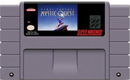 Cartridge artwork for Final Fantasy: Mystic Quest on the Nintendo SNES.