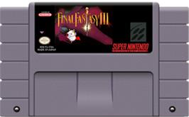 Cartridge artwork for Final Fantasy III on the Nintendo SNES.