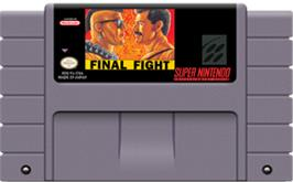 Cartridge artwork for Final Fight on the Nintendo SNES.
