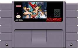 Cartridge artwork for Final Fight 3 on the Nintendo SNES.