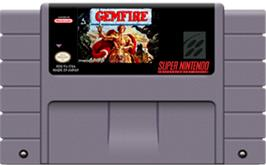 Cartridge artwork for Gemfire on the Nintendo SNES.
