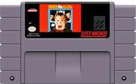 Cartridge artwork for Home Alone on the Nintendo SNES.