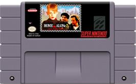 Cartridge artwork for Home Alone 2: Lost in New York on the Nintendo SNES.