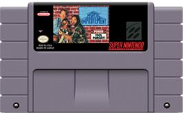 Cartridge artwork for Home Improvement: Power Tool Pursuit on the Nintendo SNES.