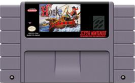 Cartridge artwork for Hook on the Nintendo SNES.